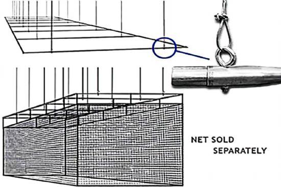 70x12 Retractable Batting Cage