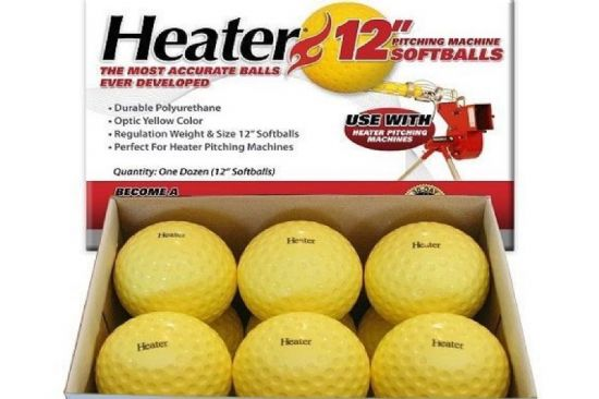 Heater Brand Pitching Machine Softballs