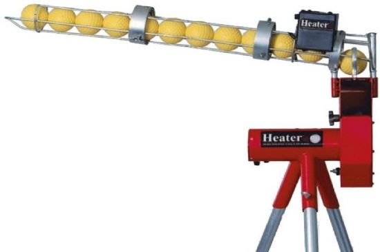 Heater Combo Baseball Pitching Machine With Ball Feeder