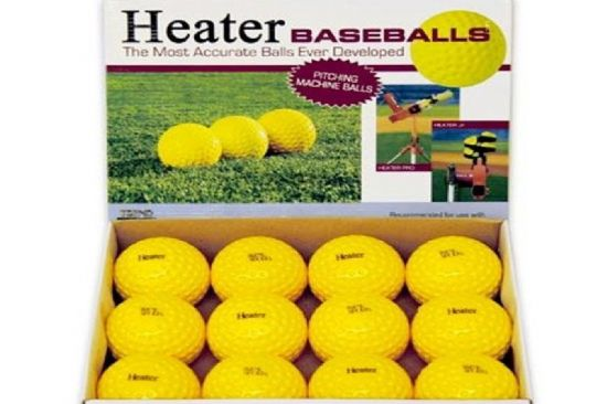 Heater Dimpled Pitching Machine Baseballs