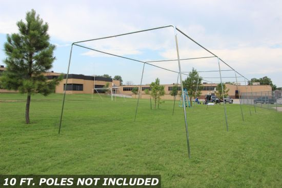 55x14x12 1.5 Stand Alone Batting Cage Frame