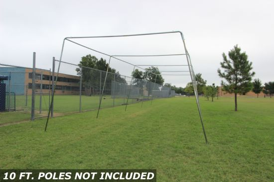 50x12x10 1.5 Stand Alone Batting Cage Frame