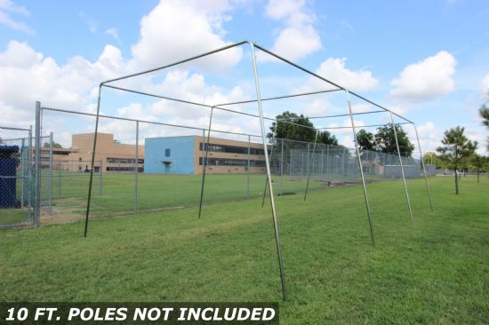 30x12x10 1.5 Stand Alone Batting Cage Frame