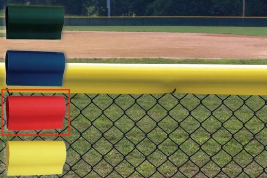 Premium Baseball Fence Crown - Red