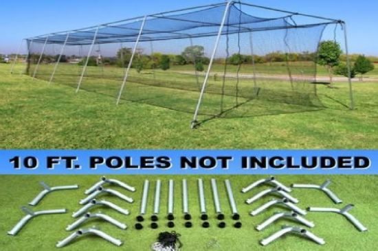 SELECT 70x14x12 Residential Baseball Batting Cage and Frame Corners