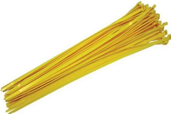 Baseball Fence Cap Ties (Pkg of 100) Yellow