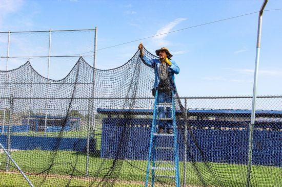Backyard hitting cage