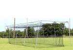 Commercial Batting Cage #42 Net With Frame Corners Stand Alone Frame