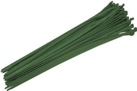 Baseball Fence Cap Ties (Pkg of 100) Green