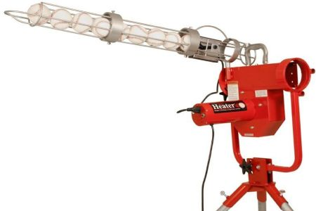 Heater Pro Curve Pitching Machine with Ball Feeder