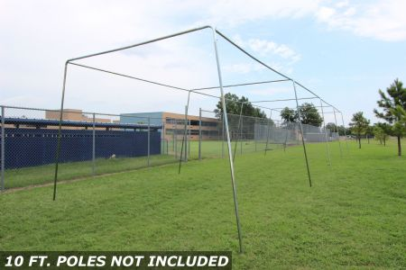 60x12x10 1.5 Stand Alone Batting Cage Frame
