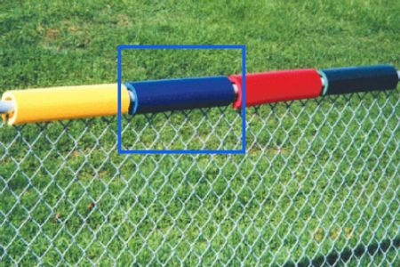 Royal Blue Baseball Fence Safe Foam Topper