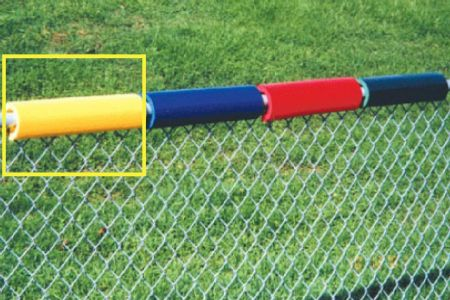 Yellow Baseball Fence Safe Foam