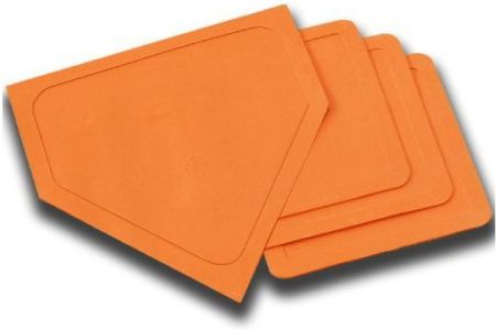 Orange Home Plate and Base Set
