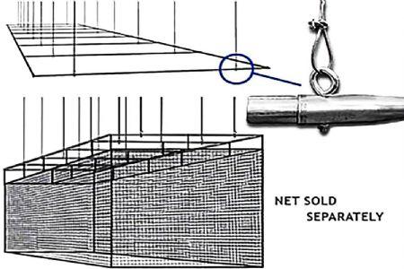 Sherman 70x14 Suspension Ceiling Frame Batting Cage